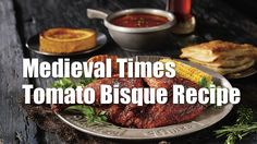 Medieval Times Tomato Bisque Recipe: Soup's on in the Medieval Times Kingdom! Enjoy a castle favorite, the tomato bisque, and help Dallas LIFE with food Veg Recipes, Fall Recipes, Delicious Recipes, Recipies, Yummy Food, Medieval Times Tomato Bisque Recipe, Tomato Bisque Soup, Fast Easy Dinner, Soup And Sandwich