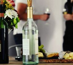Corkcicle Wine Chiller - Chill your wine, not the bottle! Corkcicle maintains the temperature of chilled white wine for 45 minutes to 1 hour. http://thegadgetflow.com/portfolio/corkcicle-wine-chiller-25/