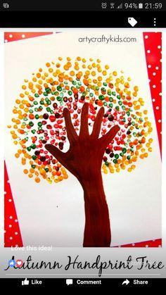 Arty Crafty Kids – Art – Art Ideas for Kids – Autumn Handprint Tree Arty Crafty Kids – Art – Kunstideen für Kinder – Autumn Handprint Tree Activities for kiddos Fall Crafts For Kids, Projects For Kids, Art For Kids, Kids Fun, Painting Ideas For Kids, Fall Activities For Kids, Art Children, Hand Art Kids, Creative Ideas For Kids