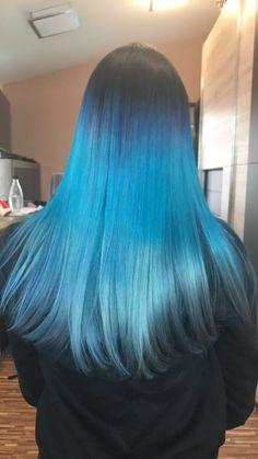 Blue Hair, My Hair, Long Hair Styles, Beauty, Long Hairstyle, Long Haircuts, Long Hair Cuts, Beauty Illustration, Long Hairstyles