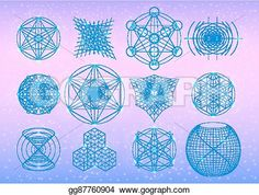 Sacred geometry symbols collection.