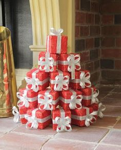 red gift stack