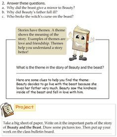 Grade 3 Reading Lesson 5 Fairy Tales Beauty And The Beast 4 Grade 1 Reading, English Story, English Reading, Reading Lessons, English Literature, Grade 3, Short Stories, Beauty And The Beast, Nonfiction