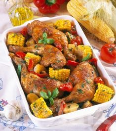 Lajos Mari konyhája - Kukoricás tepsis csirkesült Tandoori Chicken, Food And Drink, Ethnic Recipes, Diet