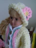 "Spring Blizzard - 18"" doll - Free Original Patterns - Crochetville"