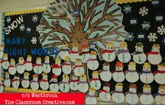 Snowmen sight words