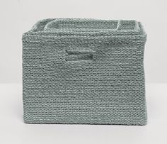 You'll want one of these for every room of the house. This set of soft, square crates, woven from natural abaca fiber, will turn you into the best kind of basket case. Perfect for towels, toys, or trinkets, the Lindon baskets come in four rich colors. Sold as a set.