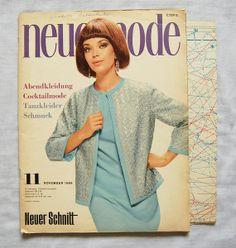 60er Neue Mode Schnittmuster 11 / 1966 von Zuzsastyle auf DaWanda.com