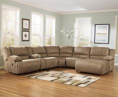 Hogan - Mocha 6 Piece Sectional Sofa Group by Signature Design by Ashley