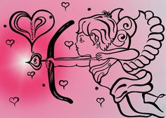 Happy Valentines Day Cupid Greeting Card