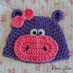 » FREE Patterns Hippo Hat One & Two Company Crochet Patterns