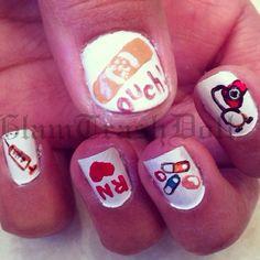 Nurse nail art