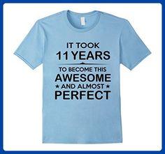 Mens Eleven 11 Year Old -11th Birthday Gift Ideas for Boy Girl 3XL Baby Blue - Birthday shirts (*Amazon Partner-Link)