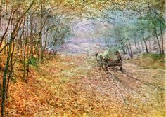 Na podzim v lese - Autumn in the woods pieces) Cold Mountain, Anton, Van Gogh, Art Inspo, Mists, Medieval, Abstract Art, Scene, Fine Art