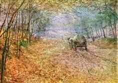 Antonín Slavíček - In the autumn mist (1897) #painting #art #Czechia