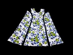 the easiest way to sew a dress with amazing new cut Baby Frocks Designs, Kids Frocks Design, Robe Diy, Patch Work Blouse Designs, Costura Fashion, Stitching Dresses, Vestidos Plus Size, Frocks For Girls, Frock Design