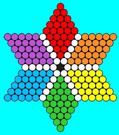 The 6 point Star Perler hama Bead Pattern / Bead Sprite Perler Bead Designs, Easy Perler Bead Patterns, Kandi Patterns, Perler Bead Art, Beading Patterns, Pearler Beads, Fuse Beads, Bottle Top Crafts, Bottle Cap Art
