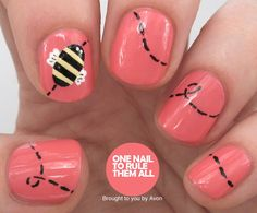 Coral Bees for Avon - One Nail To Rule Them All