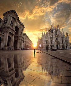"""11.7k Likes, 39 Comments - Man Influence™ (@man_influence) on Instagram: """"Sunset view  Milano Italy • by @jan9.0 @the_most_stylish_"""""""