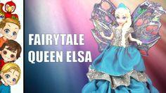 Magical #fairytales, Queen #Elsa becomes a beautiful fairy. Watch the transformation. #DIY #tutorial #disneyprincess #princess