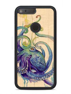 Katy Lipscomb Octopus Print - Google Pixel XL Traveler Wood Case