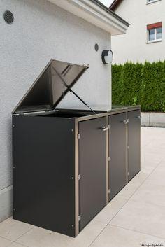 in 8 schritten zur m lltonnenbox selber machen heimwerkermagazin schuppen pinterest. Black Bedroom Furniture Sets. Home Design Ideas