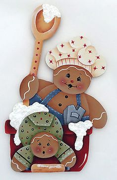 HP GINGERBREAD FRIDGE MAGNET mom and baby