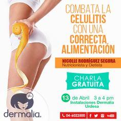 Mañana no te puedes perder esta fabulosa charla!!  Te esperamos a las 3pm en Urdesa,Circunvalación Sur 114 y calle única Centro Empresarial  El Parque oficina 5 junto al bar Rolings. Telf: 046000747-042387955.  Inscríbete por este medio YA!! #belleza #nutricion #celulitis #charla #alimentacion #estética #cosmetologa #facial #corporal #spa #relax #mujer #salud #aparatologia #consejo #tips #maquillaje #dermalia #centroestetico #guayaquil #ecuador #allyouneedisdermalia #ilovedermalia…