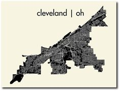 Cleveland map...I loved my years living in this wonderful city