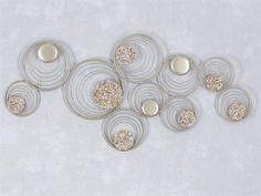 Great WAND DEKO Sahara III aus Metall mit Steinen Breite cm H he cm gold