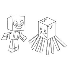 Squid And Stampy O 16 Minecraft Coloring Pages Coloring Pages Lego Coloring Pages