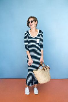 Sonnet James Teddy dress: Fun maxi dress that's made for busy moms