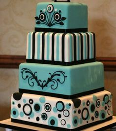 tiffany blue and chocolate teen birthday cake - Google Search