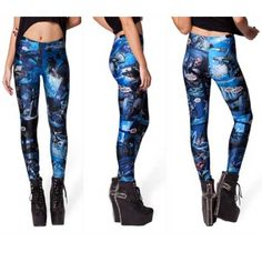S-4XL Size Blue 3D Digital Printing Sexy Leggings Elastic  Only $19.99 => Save up to 60% and Free Shipping => Order Now!  #print leggings outfit #dress #Fashion #girl #Digital #sport #yoga