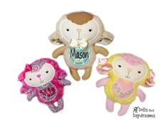 Embroidery Machine Lamb ITH Pattern - sweat spring lambie just in time for Easter fun!