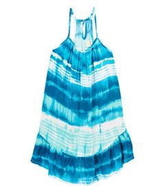 Look what I found on #zulily! Blue Turquoise Naxos Dress - Kids & Tween #zulilyfinds