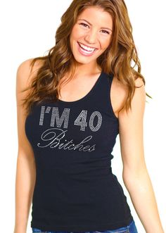40th Birthday Top  40 Birthday Tank Forty Birthday by ABridalShop