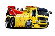 Tow truck Illustrations and Clipart. Tow truck royalty free illustrations, drawings and graphics available to search from thousands of vector EPS clip art providers. Garbage Truck, Tow Truck, Caricature, Trailers, Train Illustration, Truck Detailing, Car Vector, Truck Art, Trucks And Girls