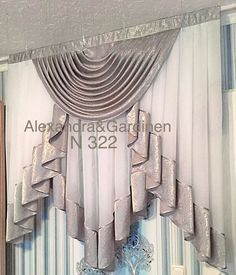 Curtains And Draperies, No Sew Curtains, Elegant Curtains, Drapery Panels, Valances, Living Room Decor Curtains, Bedroom Drapes, Kitchen Curtains, Window Cornices
