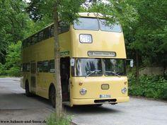 Bahnen und Busse - Doppeldecker-Bus Büssing DE 218 in Berlin - Foto und Elektronische Grußkarte