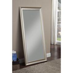 Sandberg Furniture Champagne Silver Finish Full Length Leaner Mirror - Overstock Shopping - Great Deals on Sandberg Furniture Mirrors