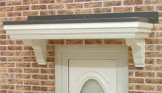Flat Roof, Canopy, Brick Houses, Doors, Home Decor, Brick Homes, Decoration Home, Room Decor, Canopies