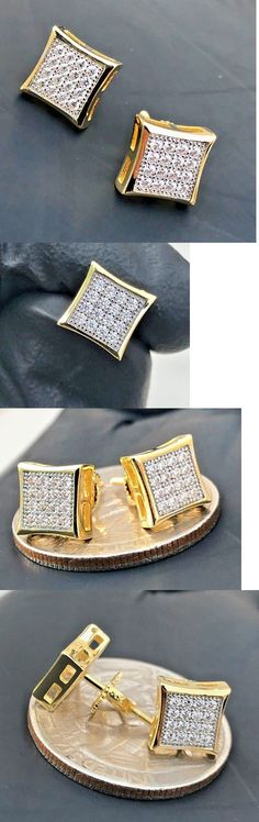 Earrings Studs 14085: Men S 0.7Ct Aaa Lab Diamond Iced Out Square Screw Back Stud Earring 7Mm -> BUY IT NOW ONLY: $14.99 on eBay!