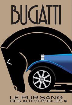 Bugatti-   Screams #artdeco style with possibly some futura