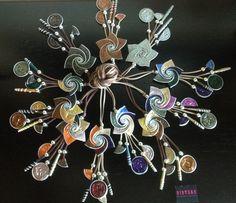 Espirales multicolor de cápsulas de nespresso