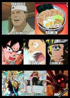 did you get wind of the combating sport involving One piece, Naruto and DBZ? Anime Meme, Otaku Anime, Anime Naruto, Naruto Kawaii, Manga Anime, Naruto Shippuden Anime, Boruto, Dbz Memes, Funny Naruto Memes