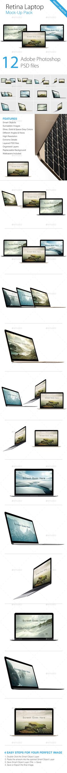 Retina Laptop Mock-ups