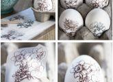 Rub-ons on Easter eggs