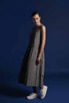 Studio Nicholson Midori Dress available at #shoppyramid www.shoppyramid.com  #studionicholson #womenswear #gingham