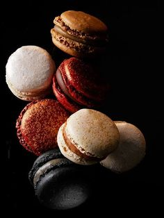 Parisian pastry chef Pierre Hermé has created a special collection of Macarons for the holiday season. The Pierre Hermé Macarons D'Exception have been French Macaroons, French Pastries, Food Design, Eat Cake, Sweet Tooth, Food Photography, Sweet Treats, Muffins, Dessert Recipes